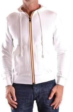 Frankie Morello Men's White Cotton Sweatshirt.