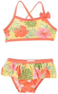 Chicco Girls' 2Pc Yellow Floral Bikini
