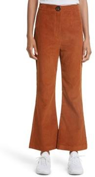 Awake Women's Crop Flare Corduroy Trousers