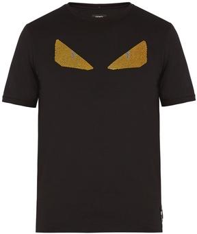 FENDI Bag Bugs-embellished cotton T-shirt