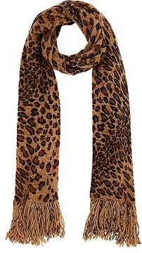 Barneys New York WOMEN'S LEOPARD-PRINT KNIT SCARF