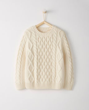 Hanna Andersson Cable Cozy Sweater In Cotton & Merino