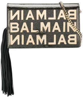 Balmain glittered clutch