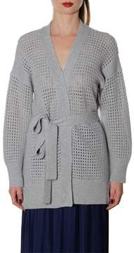 Agnona Women's Grey Wool Cardigan.
