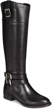 INC International Concepts I.n.c. Frankii Wide-Calf Riding Boots, Created for Macy's Women's Shoes
