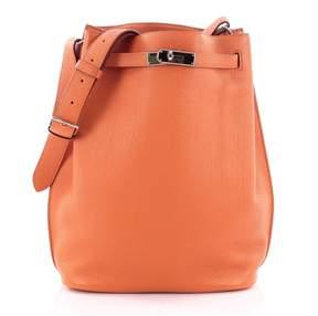 Hermes Orange Leather Handbag - ORANGE - STYLE