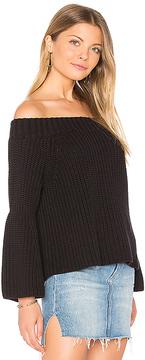 525 America Off Shoulder Tulip Sweater