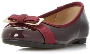 Head Over Heels *Head Over Heels By Dune Honor Burgandy Flat Pumps