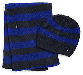 Nautica Striped Hat and Scarf Gift Set