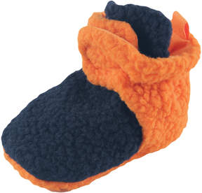 Luvable Friends Navy & Orange Fleece Bootie - Boys
