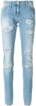 Blumarine distressed skinny jeans