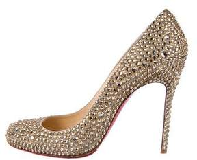 Christian Louboutin Embellished Round-Toe Pumps