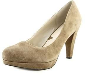 Adrienne Vittadini Womens Prestin Leather Closed Toe Classic Pumps.