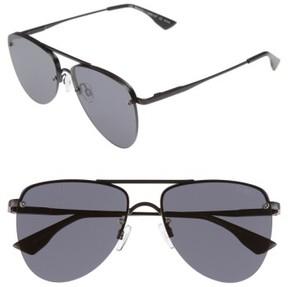 Le Specs Women's The Prince 57Mm Aviator Sunglasses - Black