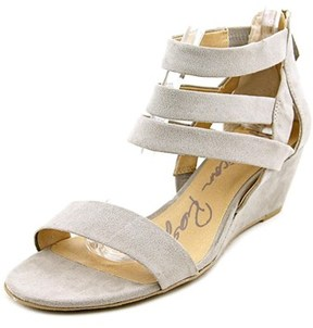 American Rag Casen Women Open Toe Synthetic Gray Wedge Sandal.