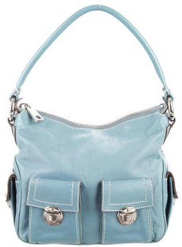 Marc Jacobs Leather Blake Hobo - BLUE - STYLE