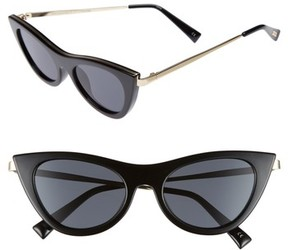 Le Specs Women's Enchantress 49Mm Retro Sunglasses - Black
