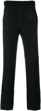 Missoni straight leg knit trousers