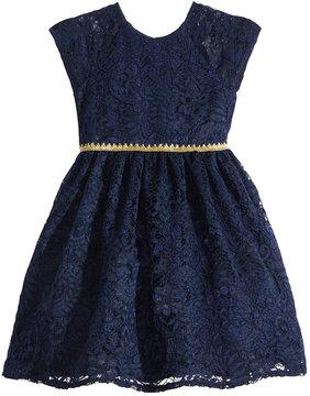 Laura Ashley Metallic-Trim Lace Dress, Little Girls (4-6X)
