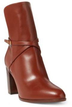 Ralph Lauren Lanelle Luxe Calfskin Boot Chestnut 6.5