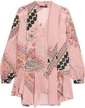 Etro Pussy-bow Printed Silk Blouse - Pink