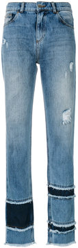 Each X Other frayed straight leg jeans