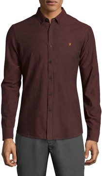 Farah Men's Steen Oxford Sports Shirt