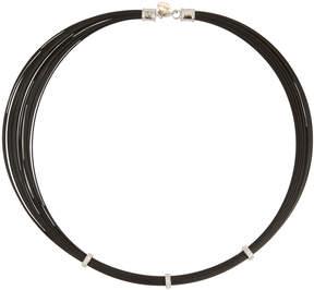 Alor Noir Steel & 18k Diamond Multi-Cable Necklace
