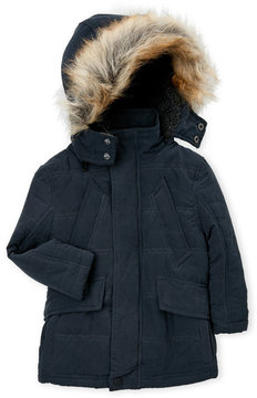 Urban Republic Toddler Boys) Faux Fur Trim Hooded Coat
