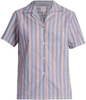 Stella Jean Logica striped cotton-poplin shirt