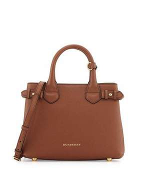 Burberry Banner House Check Derby Tote Bag, Tan - TAN - STYLE