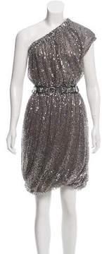 Naeem Khan Embellished One-Shoulder Dress