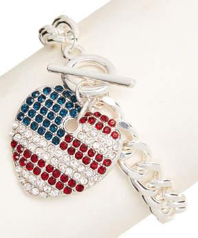 Carole Stars & Stripes Heart Charm Bracelet
