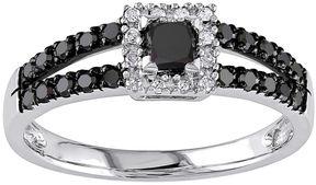 Black Diamond MODERN BRIDE Midnight 1/2 CT. T.W. Color-Enhanced 10K White Gold Ring