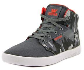 Supra Yorek Hi Youth Round Toe Canvas Gray Tennis Shoe.