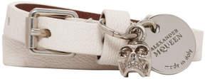 Alexander McQueen White Double Strap Skull Bracelet