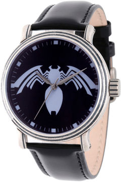 Marvel Spiderman Mens Black Strap Watch-Wma000220