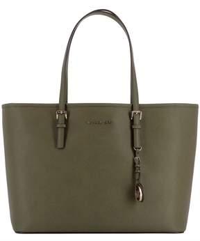 Michael Kors Green Leather Shoulder Bag - GREEN - STYLE
