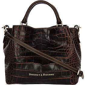 Dooney & Bourke Croco Embossed Leather Brenna Satchel