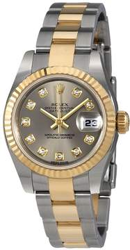 Rolex Lady Datejust Automatic Rhodium Diamond Dial Watch