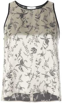 Forte Forte floral jacquard shell top