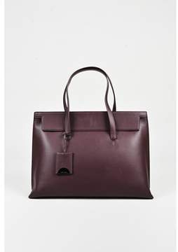 Tom Ford Pre-owned wine Red Leather Large serena Tote Bag.