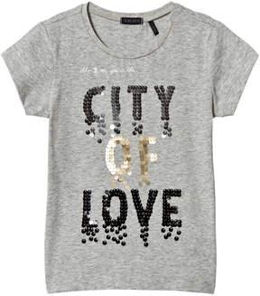 Ikks Grey City of Love Sequin Tee