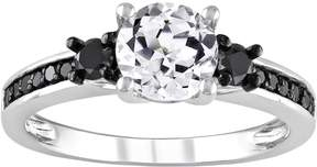 Black Diamond Kohl's Lab-Created White Sapphire & Engagement Ring in Sterling Silver (1/3 ct. T.W.)