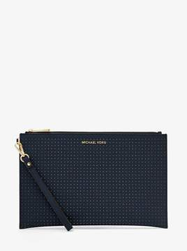 MICHAEL Michael Kors Extra-Large Perforated Leather Clutch
