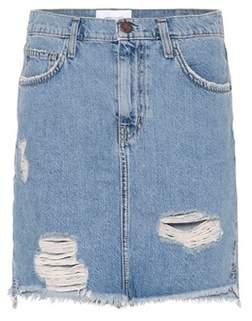Current/Elliott High-waisted denim miniskirt