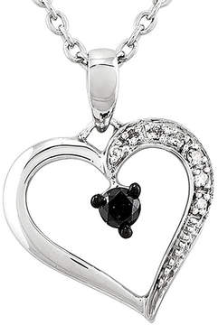 Black Diamond FINE JEWELRY 1/8 CT. T.W. White and Color-Enhanced Heart Pendant Necklace