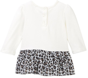 Calvin Klein Animal Print Mesh Bottom Tunic, Jacket, & Legging Set (Baby Girls)