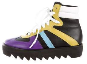 Ruthie Davis Pucker Leather Sneakers