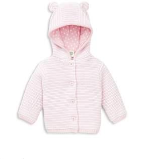 Little Me Girls' Stripe Hooded Cardigan - Baby